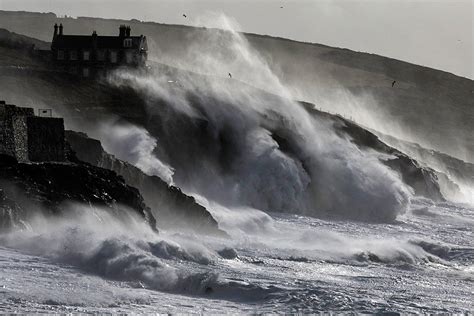 cornwall porthleven storm storms weather waves stormy coastline beach england winds town winter wild most hurricane wave geography during rainstorms