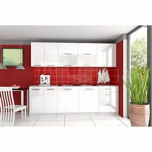 cuisine complete 2m60 laquee tara design moderne With deco cuisine pour meuble vitrine
