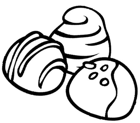 chocolate truffles cookie coloring page cookie clipart