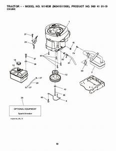 2010 Weed Eater 96041011900 Lawn Tractor Parts List