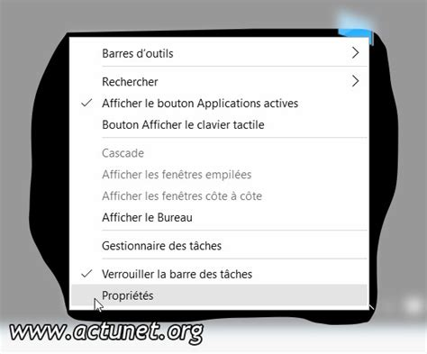 performances du bureau pour windows aero propriétés