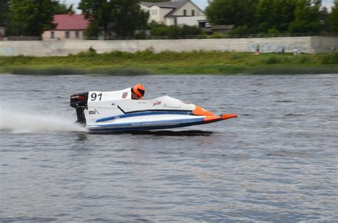 Jēkabpils pilsētas svētki. Ātrumlaivu sacensību