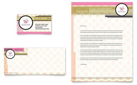 hairstylist business card letterhead template design