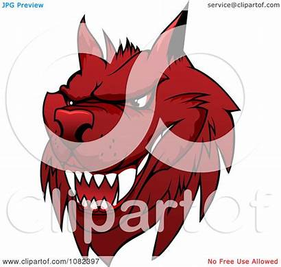 Wolf Mean Illustration Clipart Vector Royalty Tradition
