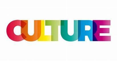 Culture Word Text Banner Rainbow Cultura Vector