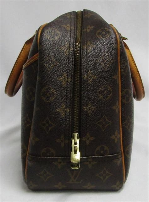 louis vuitton deauville lv bowling vanity monogram cosmetic brown canvas satchel tradesy
