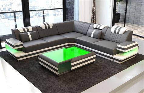 l shaped settee antonio l shape sofa with led lights sofa dreams