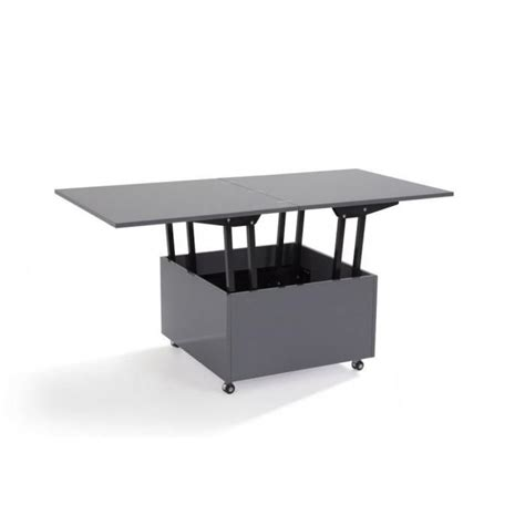 meuble cuisine solde table basse relevable extensible giani grise achat vente