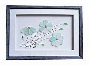 Genuine, Sea, Glass, Flowers, Sea, Glass, Art, Pebble, By, Pebbleartdream