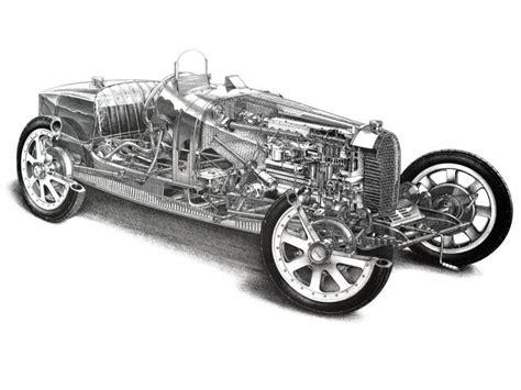 1924 Bugatti Type-35 retro race racing interior engine ...