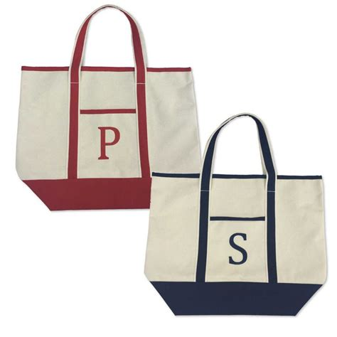 monogram large canvas tote bag large canvas tote bags