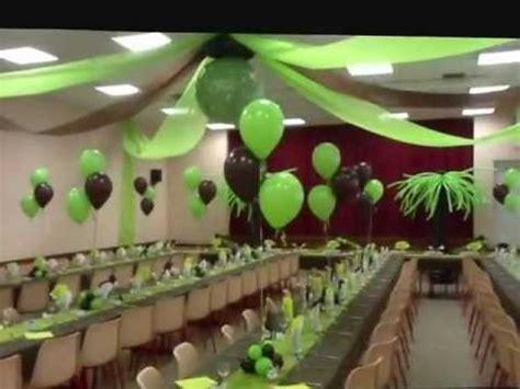 deco table vert et blanc d 233 coration ballons