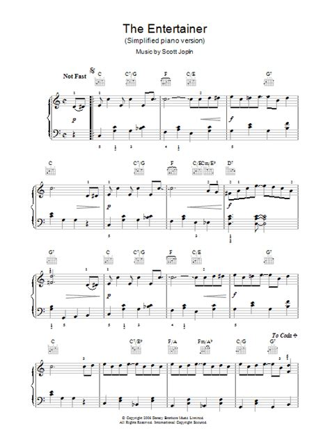 Your source for free piano sheet music, lead. The Entertainer | Sheet Music Direct