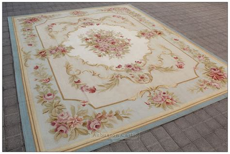 shabby chic rugs uk blue ivory w pink rose aubusson area rug free ship wool woven shabby french chic ebay