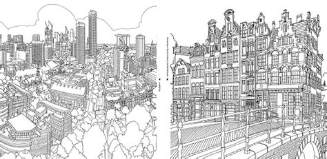 coloring book  adults features intricate aerial views