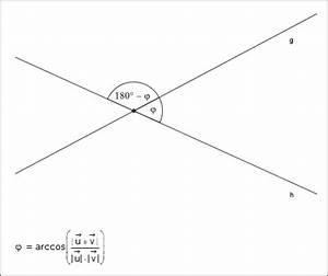 Schnittwinkel Zweier Geraden Berechnen : schnittwinkel zweier geraden im raum ~ Themetempest.com Abrechnung