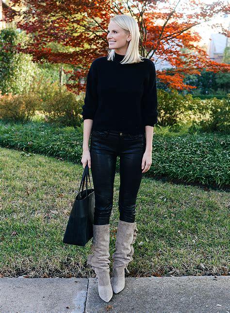 ways  wear leather leggings  winter fashion trends