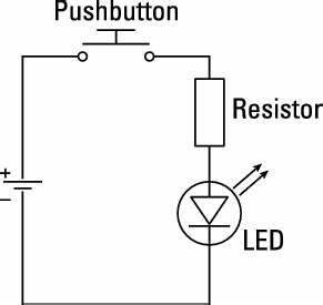 basic time delayed deactivation of a circuit With basic led wiring