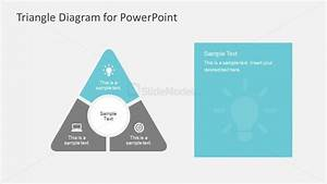 Triangle Diagram With Lightbulb Powerpoint Templates