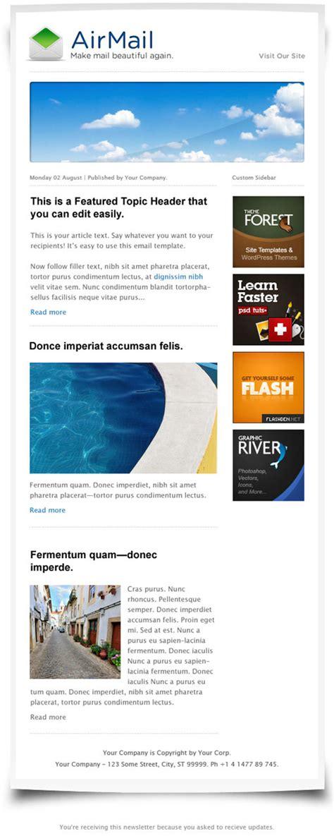 newsletter html template html email newsletter templates