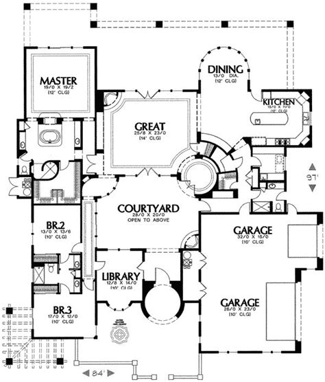 house plans with turrets mediterranean house plan with two turrets