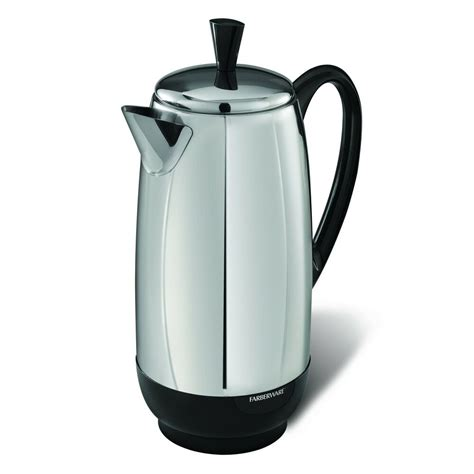 Amazon's choice for farberware coffee pot. Farberware Electric 12 Cup Percolator Stainless Steel Coffee Maker Pot Cool New | eBay