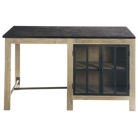 meuble de cuisine ilot central îlot central en bois recyclé l 150 cm copenhague maisons