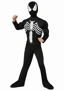 Child Ultimate Black Spider-Man Muscle Chest Costume