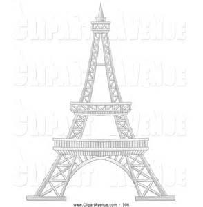 Paris France Eiffel Tower Clip Art