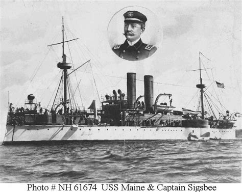 Uss Maine Battleship Sinking In Harbor by This Photo Depicts The Battleship Uss Maine And