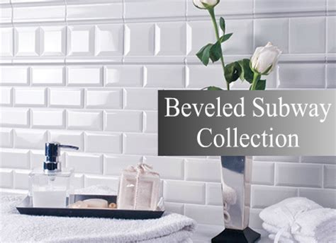 4x12 White Beveled Subway Tile by Bevelled Subway Tile Kitchen Backsplash Bathroom Tile