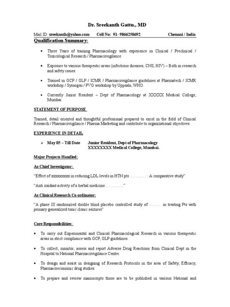 resume sle for freshers sap mm resume sle