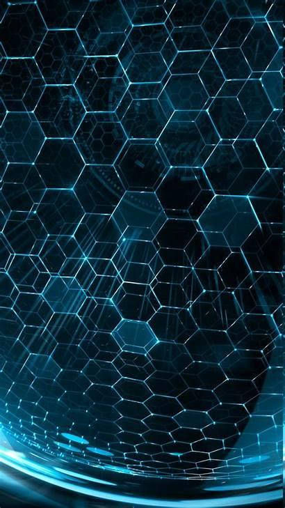 Portrait Hexagon 3d Digital Pattern Lines Sphere
