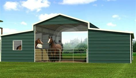 Boxed Eave Metal Barn Structure