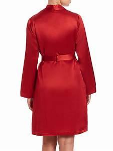 lyst la perla silk robe in red With robe la perla