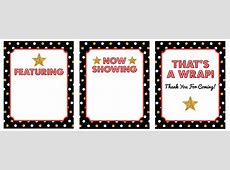 27 Hollywood Party Decorations {free printable} – Tip Junkie