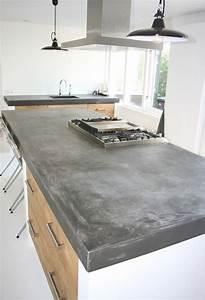 Beton Pour Plan De Travail : plan de travail cuisine en 71 photos id es inspirations ~ Premium-room.com Idées de Décoration