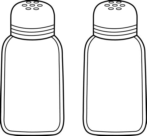 salt and pepper clipart black and white salt clipart spice shaker pencil and in color salt