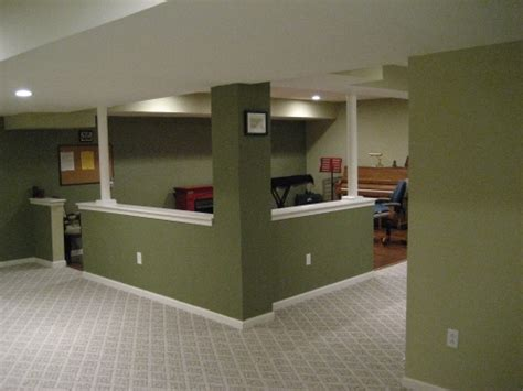interesting  wall incorporating supports basement
