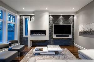 Steinwand Wohnzimmer Tv : steinwand im wohnzimmer wanddeko mit verblendsteinen ~ Bigdaddyawards.com Haus und Dekorationen