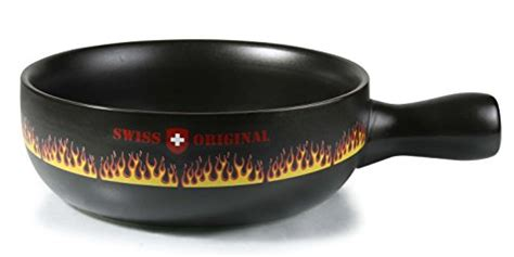 artestia ceramic cheese fondue cooking pot swiss flare