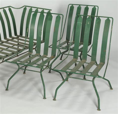 lot  french art deco patio furniture settee  chairs