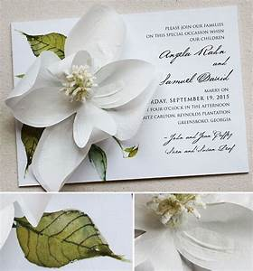 angela g white magnolia wedding invitations wedding With magnolia tree wedding invitations