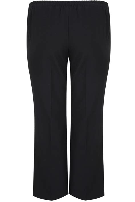 black classic straight leg trousers  elasticated