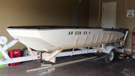 Boat Stringer System by 1973 Glastron V 156 Sportster Floor Stringer Restoration