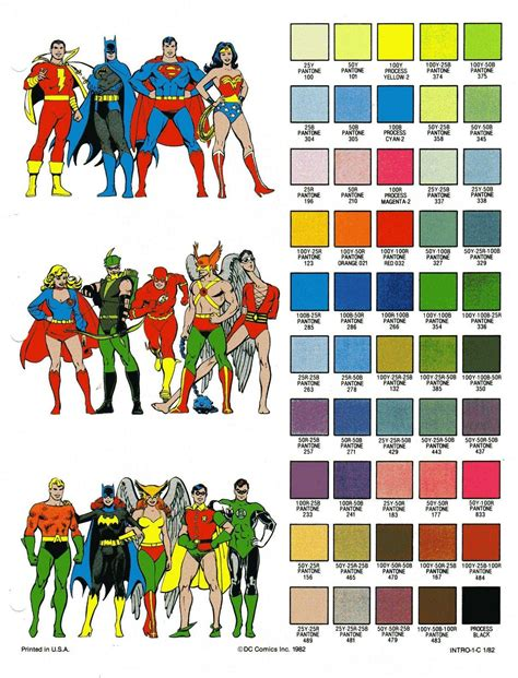 in color dc the dc comics color palette dccomics