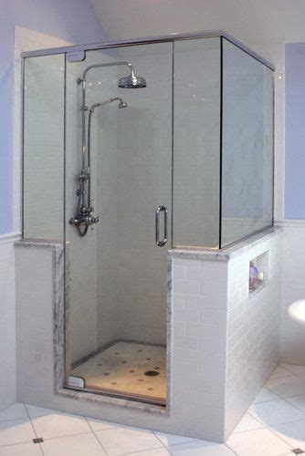 bath  shower knee wall design pictures remodel