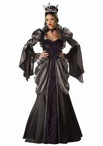 womens wicked queen costume With deguisement robe noire