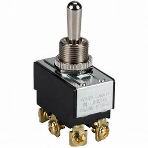 Dpdt Heavy Duty Toggle Switch Center Off Momentary