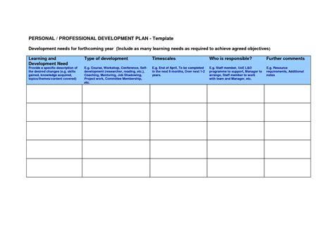 Plan Template Professional Development Plan Template Bravebtr